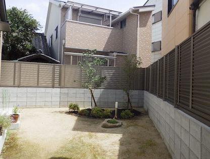 大阪植木植栽後